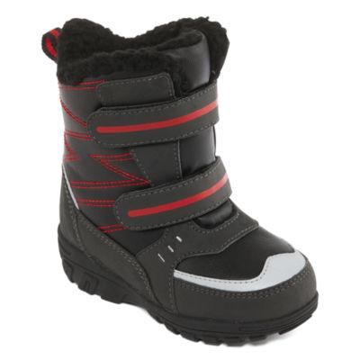 Totes Boys Julian Ii Water Resistant Elastic Winter Boots