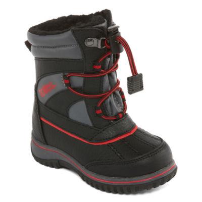 Totes Boys Jaymee Ii Water Resistant Elastic Winter Boots