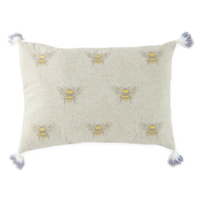 JCPenney Home Bees Rectangular Throw Pillow