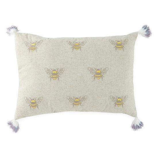 JCPenney Home Bees Rectangular Throw Pillow