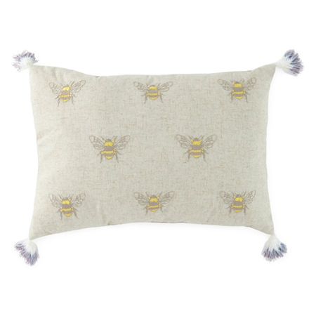 JCPenney Home Bees Rectangular Throw Pillow, One Size , Beige