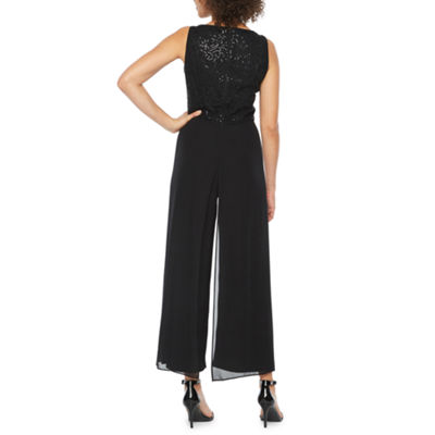 London Times Sleeveless Jumpsuit