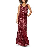 Blu Sage Sleeveless Sequin Evening Gown cf125995e