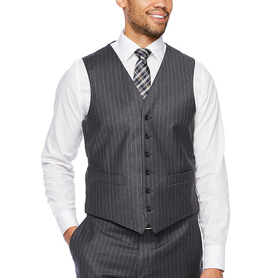 Stafford Executive Mens Striped Classic Fit Suit Vest