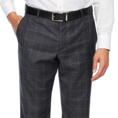 Stafford Checked Slim Fit Stretch Suit Pants