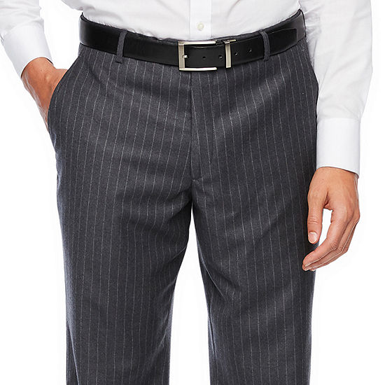 Stafford Executive Super100 Gray Chalk Stripe Classic Fit Suit Pants