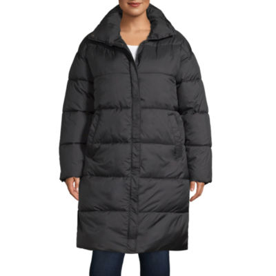 Arizona Vinyl Heavyweight Puffer Jacket-Juniors Plus