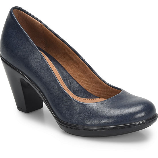 Eurosoft Womens Pumps Slip-on Closed Toe Stacked Heel