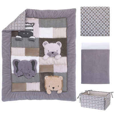 Nojo Play Day Pals 4-Pc. Crib Bedding Set