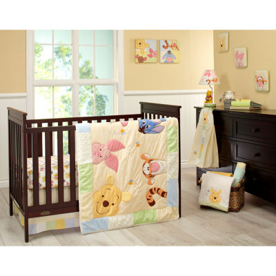 Disney Peeking Pooh 7-Pc. Crib Set 7 Pair Crib Bedding Set