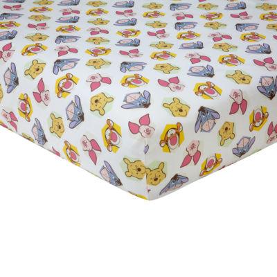 Disney Peeking Pooh Crib Sheet Crib Sheet