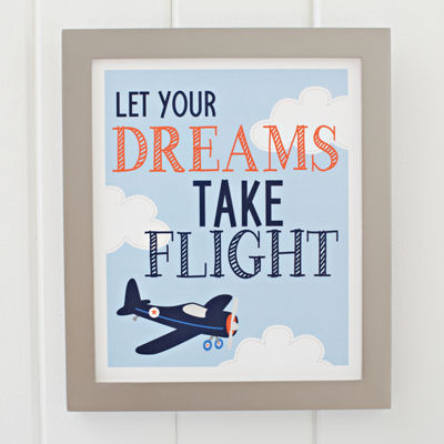 Carter's Take Flight Framed Art Decor Kits