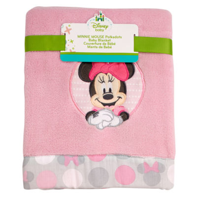 Disney Minnie Polkadots Baby Blanket Blanket - Unisex