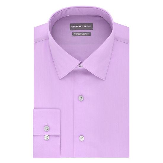 Geoffrey Beene Always Tucked Stretch Regular Long Sleeve Broadcloth Dress Shirt