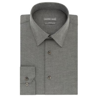 Geoffrey Beene Flex Collar Stretch Slim Fit Long Sleeve Yarn Dyed Woven Dress Shirt - Slim