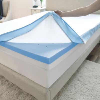"""SensorPEDIC® Supreme Gel Cooling 4"""" Memory Foam Topper"""