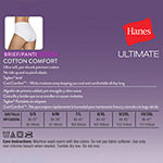 Hanes Ultimate™ Cool Comfort™ Cotton Ultra Soft 5 Pack +1 BONUS Knit Brief Panty 40hucc