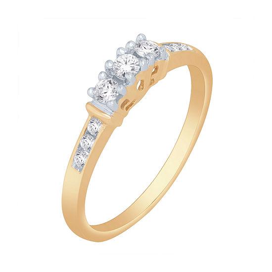 Love Lives Forever™ 1/4 CT. T.W. Genuine Diamond 3-Stone Ring