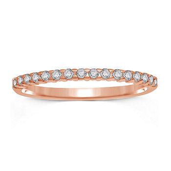 1 7 Ct T W Genuine Diamond 10k Rose Gold Band Ring Color Rose Gold Jcpenney