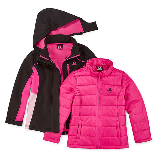 Reebok Little & Big Girls Hooded Heavyweight 3-In-1 System Jacket