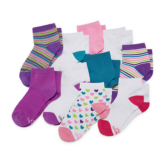 Hanes Big Girls 10 Pair Low Cut Socks