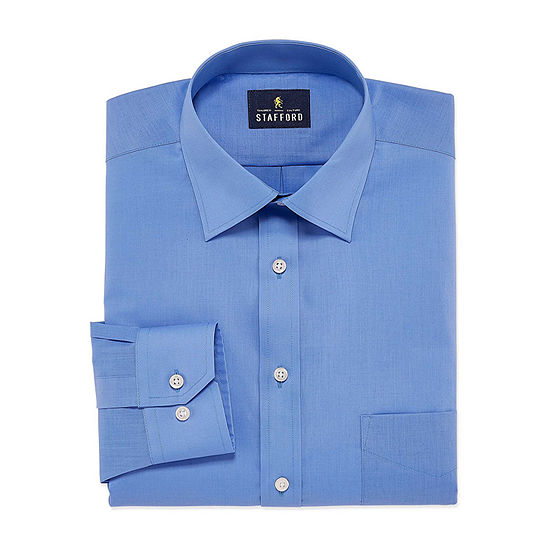Stafford Men's Regular-Fit Easy-Care Stretch Dress Shirt
