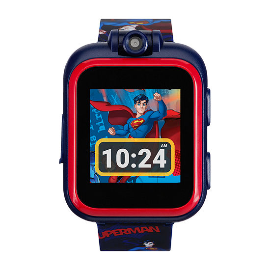 Superman Itouch Playzoom Boys Blue Smart Watch-50086m-42-Nvp