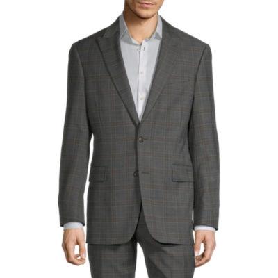 Stafford Mens Plaid Stretch Classic Fit Suit Jacket
