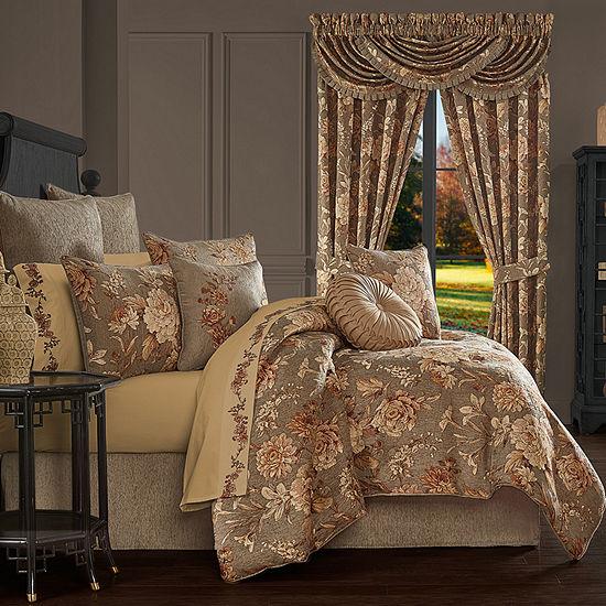 Queen Street Carmella 4-pc. Floral Heavyweight Comforter Set
