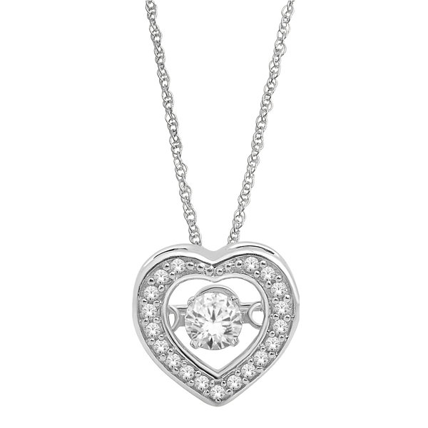 Love in Motion™  ¼ CT. T.W. Diamond Heart Pendant Necklace