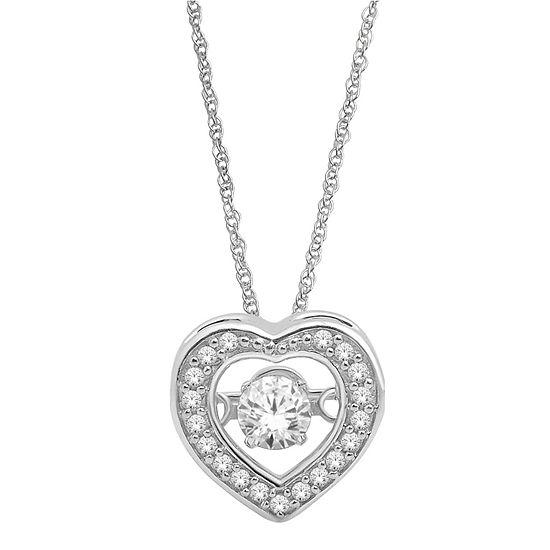Ct tw diamond 10k white gold heart pendant tw diamond heart pendant necklace aloadofball Choice Image