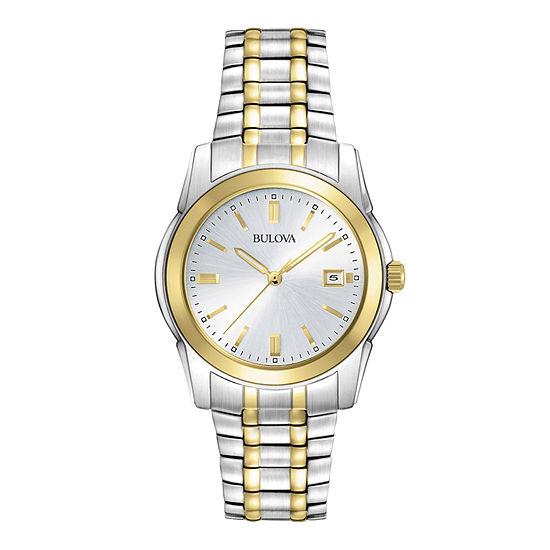 Bulova Mens Chronograph Two Tone Stainless Steel Bracelet Watch-98h37