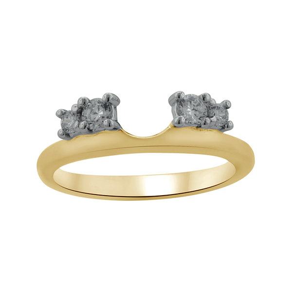 14K Yellow Gold 1 4 Diamond Wrap Ring