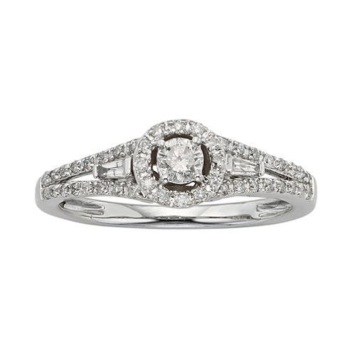 3/8 CT. T.W. Diamond 10K White Gold Promise Ring