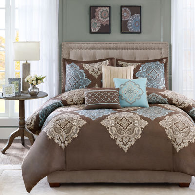 Madison Park Barnett Medallion 6-pc. Duvet Cover Set