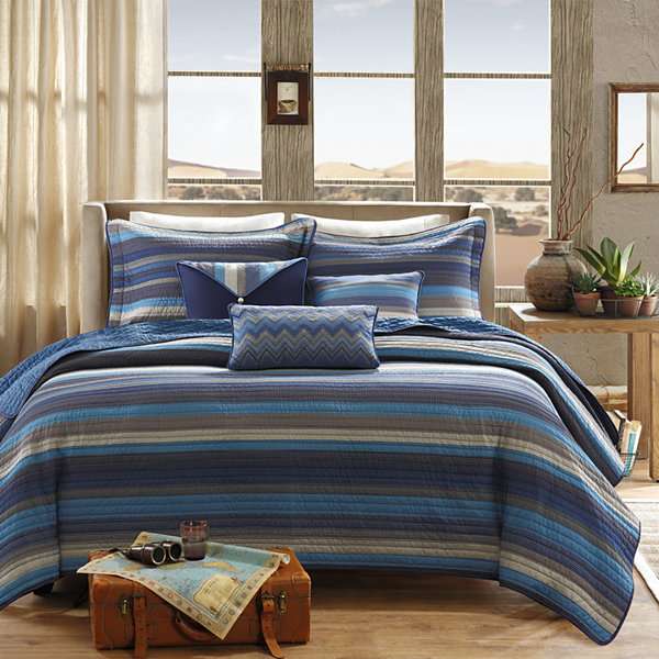 Madison Park Cabrillo Striped 6 Pc. Coverlet Set