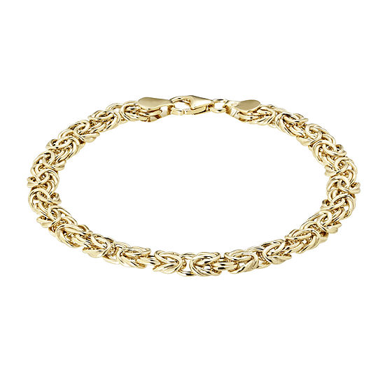 Made In Italy 14k Yellow Gold 6 4mm Byzantine Bracelet