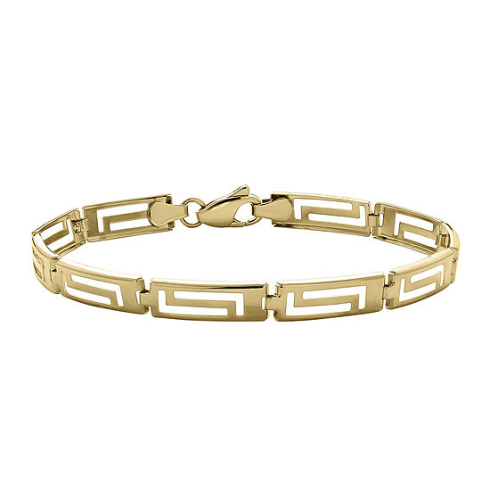Infinite Gold 14k Yellow Greek Key Bracelet