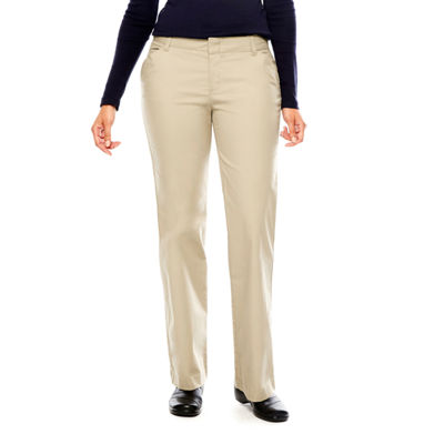 Dickies® misses Relaxed-Fit Straight Leg Stretch Twill Pants - Petite