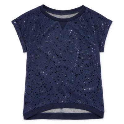 Total Girl Short Sleeve Hi Lo Sweatshirt - Girls' 7-16 & Plus