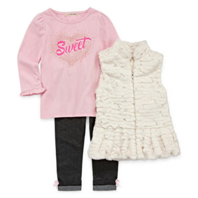 Self Esteem 3-pc. Legging Set-Toddler Girls