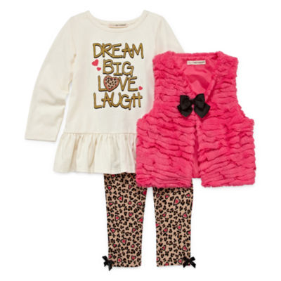 Self Esteem 3-pc. Legging Set-Toddler Girls