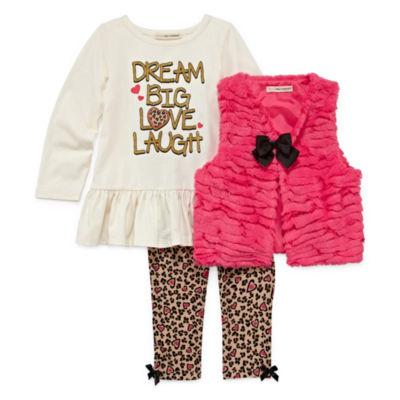 Self Esteem 2-pc. Legging Set-Preschool Girls