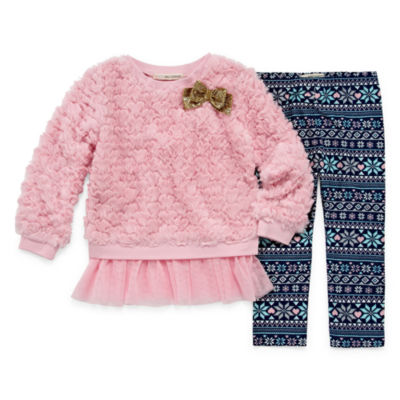 Self Esteem 2-pc. Legging Set-Preschool Girls