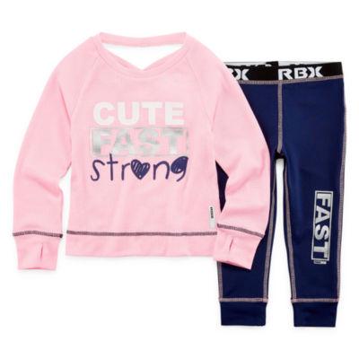 Rbx 2-pc. Legging Set-Preschool Girls