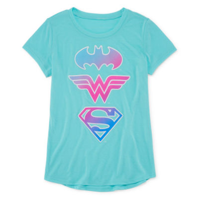 Super Hero Sheilds T-Shirt- Girls' 7-16