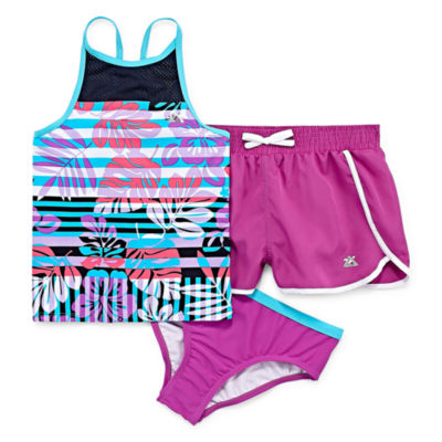 Zeroxposur Girls Tankini Set - Big Kid