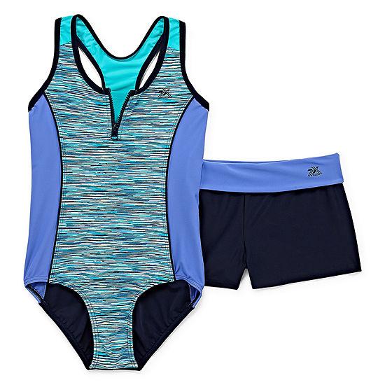 Zeroxposur 1pc Swimsuit with Boy Short -Big Girls & Plus