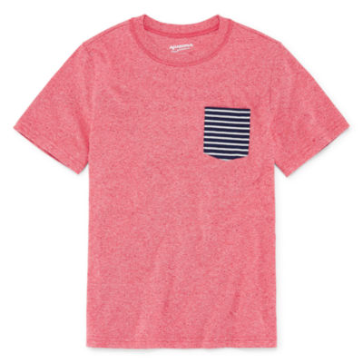 Arizona Short Sleeve Printed Pocket T-Shirt - Boys 4-20 Regular & Husky