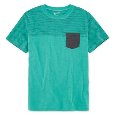 Arizona Short Sleeve Colorblock T-Shirt - Boys 4-20 Regular & Husky